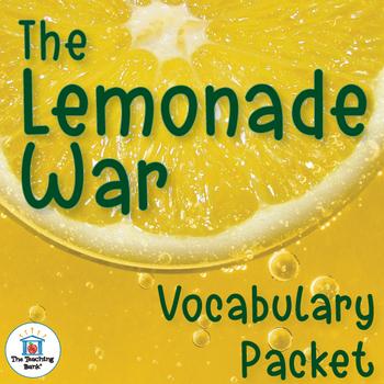 The Lemonade War Vocabulary Packet