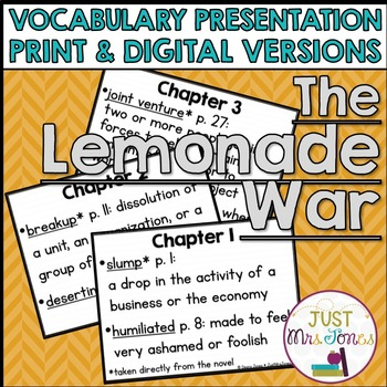 The Lemonade War Vocabulary Presentation