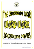 The Lemonade War Vocabulary Workbook