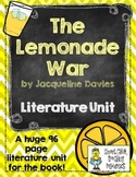 """The Lemonade War"", by J. Davies, Literature Unit, 96 Total Pages!"