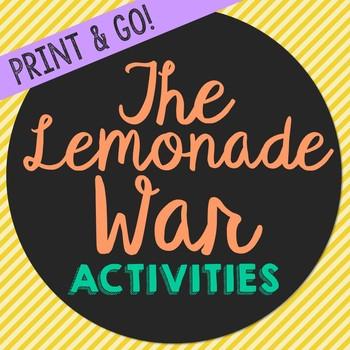 The Lemonade War Novel Unit Study Activities, Book Companion Worksheets