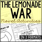 The Lemonade War Interactive Notebook Novel Unit Study Act