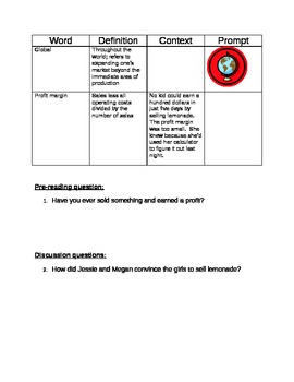 The Lemonade War by Jacqueline Davies (Student Packet)
