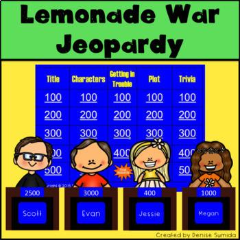 The Lemonade War by Jacqueline Davis Jeopardy