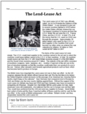 The Lend-Lease Act Reading and Chart Review Question and Answers