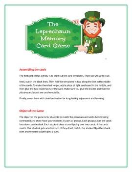 The Leprechaun Memory Card Game