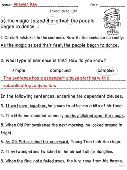 The Leprechaun's Gold: BONUS Mentor Sentence Lesson