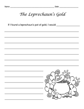 St. Patrick's Day Writing Assignment / The Leprechaun's Gold