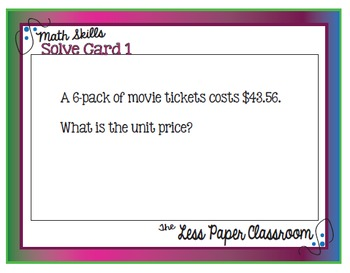 The Less Paper Classroom: Calculate Unit Prices