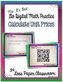 The Less Paper Classroom: Calculate Unit Prices {Distance Learning}