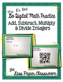 The Less Paper Classroom: Add, Subtract, Multiply & Divide Integers