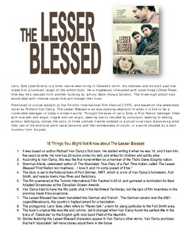 The Lesser Blessed  Film Study