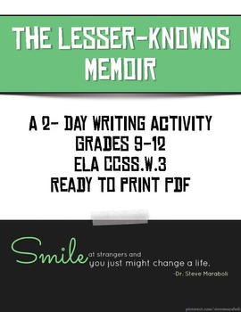 The Lesser-Knowns Memoir: A 2-Day Writing Activity and Lesson