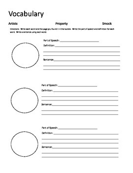 The Art Lesson Guided Reading Packet
