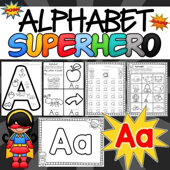 The Letter A Alphabet Superhero