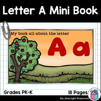 Alphabet Mini Book for Early Readers: The Letter A