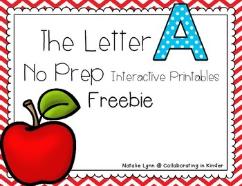The Letter A No Prep Interactive Printables Freebie