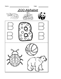 The Letter B Coloring Zoo Alphabet Worksheet