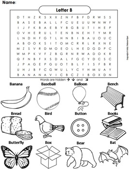 phonics worksheet beginning letter sounds letter of the week b word search. Black Bedroom Furniture Sets. Home Design Ideas