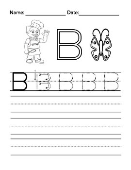 The Letter B with Alphabet Stu