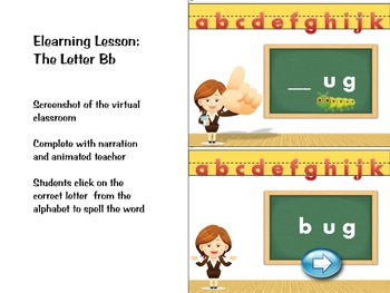 Phonics activity and learning game featuring the letter Bb