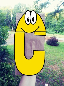 The Letter C Paper Bag Puppet Template