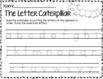 The Letter Caterpillar