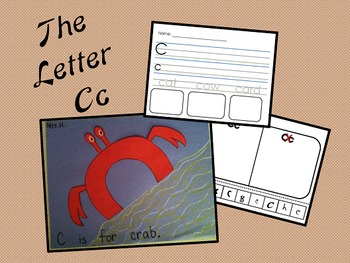 The Letter Cc- Craft & 2 Worksheets!