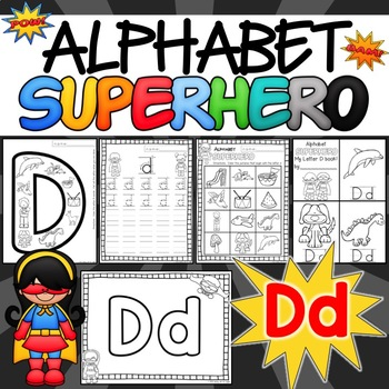 The Letter D Alphabet Superhero
