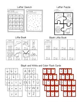 Alphabet Worksheets for the Letter D