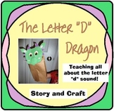 "The Letter ""D"" Dragon Story and Craft"