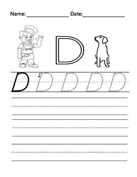 The Letter D with Alphabet Stu