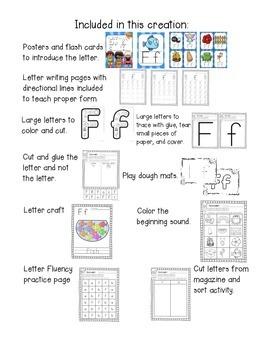Alphabet Worksheets for the Letter F
