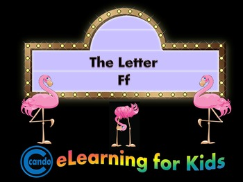 Phonics activity and learning game featuring the letter Ff