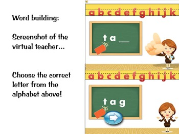 Phonics activity and learning game featuring the letter Gg