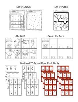 Alphabet Worksheets for the Letter H