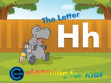 Phonics activity and learning game featuring the letter Hh