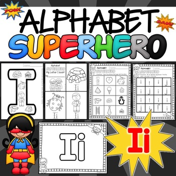 The Letter I Alphabet Superhero