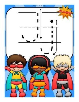 The Letter J Alphabet Superhero