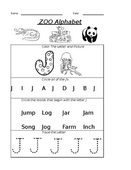 The Letter J Worksheet