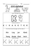 The Letter K Worksheet