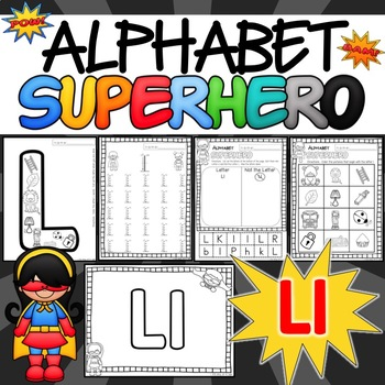 The Letter L Alphabet Superhero