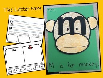 The Letter Mm- Craft & Worksheets!