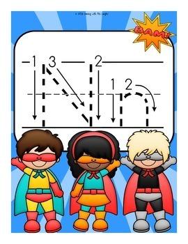The Letter N Alphabet Superhero