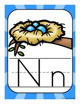 Alphabet Worksheets for the Letter N