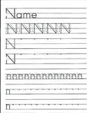 The Letter N Handwriting Worksheet