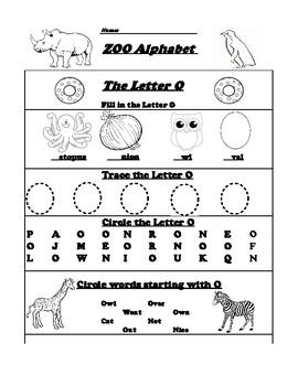 The Letter O Worksheet By Northeast Education Teachers Pay Teachers - Download Beginning Letter O Worksheets For Kindergarten PNG