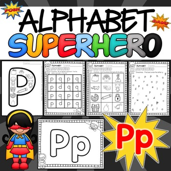 The Letter P Alphabet Superhero
