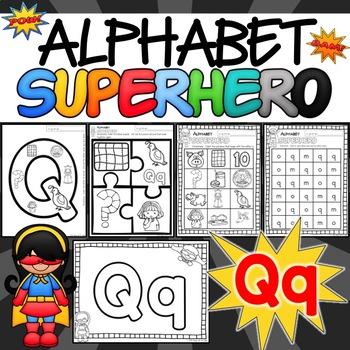 The Letter Q Alphabet Superhero