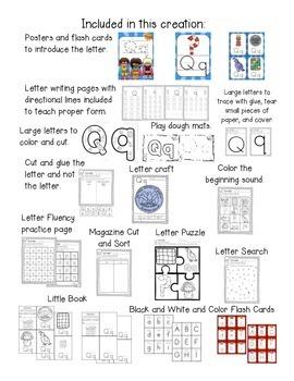 Alphabet Worksheets for the Letter Q